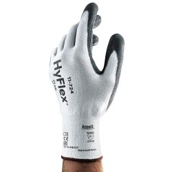ANSELL 11-724-8, GLOVE - HYFLEX MED DUTY PU - CUT 3 PALM COATED SIZE 8 - 11-724-8
