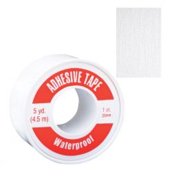 SAFECROSS FIRST AID 07037, TAPE-ADHESIVE WATERPROOF - SPOOLED 2.5CM X 4.6M 07037