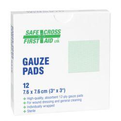 "SAFECROSS FIRST AID 02023, GAUZE PAD-STERILE - 3"" X 3"" 25/BX 02023"
