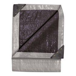 TEKTON 6292, 6' X 8' DOUBLE DUTY TARP - SILVER/BLACK - 6292