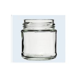 Consolidated Bottle 000305, FLINT GLASS PANELLED JAR - 100ML 000305
