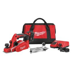 "MILWAUKEE 2623-21, PLANER KIT-3-1/4"" M18 W/CHRGER - REDLITHIUM BATT/BEVEL EDGE 2623-21"