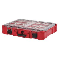 MILWAUKEE 48-22-8430, ORGANIZER - PACKOUT - W/ 10 REMOVABLE BINS 48-22-8430