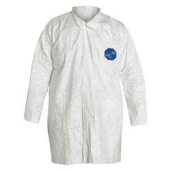 DUPONT TY210SWHLG003000, LAB COAT-TYVEK SNAP CLOSURE - SOLD 30/CS PRICE/EA LARGE TY210SWHLG003000