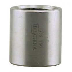 "BOSHART INDUSTRIES SSH316MC-10, COUPLING MERCHANT TYPE 316 1"" - STAINLESS STEEL CLASS 150 - SSH316MC-10"