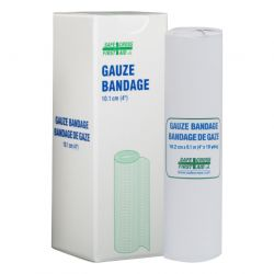 """SAFECROSS FIRST AID 02152, GAUZE BANDAGES 4"""" X 10 YDS 02152"""