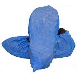 CANSAFE DSC-CPE-XL-BL, SHOE COVER - BLUE POLYETHYLENE - X-LARGE 100/PKG - DSC-CPE-XL-BL