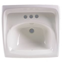 AMERICAN STANDARD 0355012.020, SINK - LUCERNE WALL-HUNG - LAVA 4 IN CTRS WHT 0355012.020