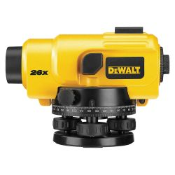 DEWALT DW096PK, 26X OPTICAL LEVEL - W/TRIPOD AND 8' ROD - DW096PK