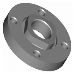 MILWAUKEE 49-05-0110, FLANGE NUT FOR 6155-20 SANDER 49-05-0110