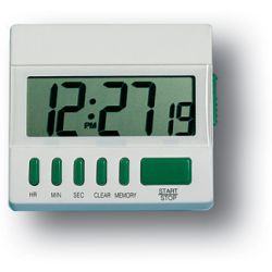 GENERAL TOOLS TI872, DESKTOP TIMER WITH JUMBO - DISPLAY (WHITE) TI872