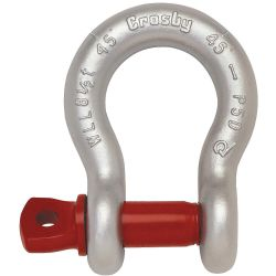 CROSBY 1018516, ANCHOR SHACKLE-GALV 7/8 - SCREW PIN 6-1/2 TON 1018516