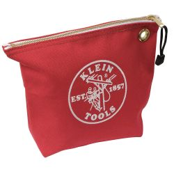 "KLEIN TOOLS 5539RED, CONSUMABLE ZIPPER BAG, RED - CANVAS, 10"" X 8"" 5539RED"