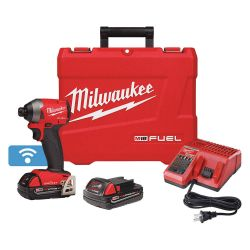 """MILWAUKEE 2857-22CT, IMPACT DRIVER CP KIT M18 FUEL - 1/4"""" HEX W/ONE-KEY COMPACT 2857-22CT"""