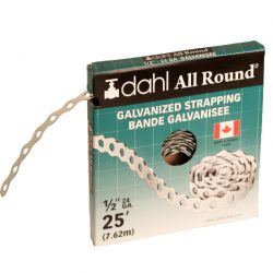 DAHL VALVE LIMITED 9049, STRAPPING-GALV SUSPENSION - 1/2 X 25 FT 24 GAUGE 9049