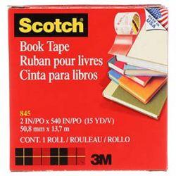 """3M 7000001559, SCOTCH BOOK TAPE 2"""" X 15 YD - TRANSPARENT #845 7000001559"""