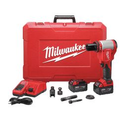 "MILWAUKEE 2676-23, KNOCKOUT KIT-FORCE LOGIC M18 - 1/2"" TO 4"" W/2 BATTERIES, CASE 2676-23"