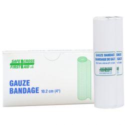 SAFECROSS FIRST AID 02022, BANDAGE-GAUZE - 10 CM X 4.6 M 2/BX 02022