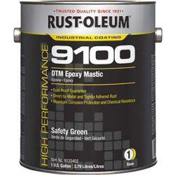 RUST-OLEUM 9133402, DTM EPOXY MASTIC 1 GAL - SAFETY GREEN - NO ACTIVATOR - 9133402