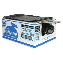 "RALSTON 2761-01, GARBAGE BAG-PLASTIC (250/CS ) - 26"" X 36"" REG RECYCLED BLACK 2761-01"