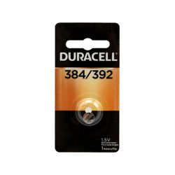 """DURACELL D384/392PK, BATTERY-SILVER OXIDE 1.5V - WATCH/CALC .311""""X.142"""" SOLD/PC D384/392PK"""