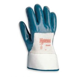 GLOVE-NITRILE PALM COATED - HYCRON SAFETY CUFF SIZE 8