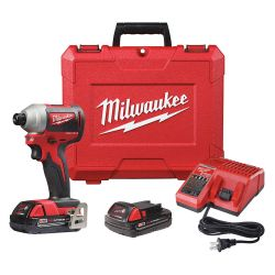 "MILWAUKEE 2850-22CT, IMPACT DRIVER KIT 1/4"" - M18 LI-ION COMPACT 2850-22CT"