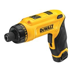 "DEWALT DCF680N1, SCREWDRIVER-GYROSCOPIC KIT 8V - 1/4"" HEX, 1 BATT,CHARGER,BAG DCF680N1"
