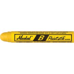 LACO MARKAL 80221, MARKAL B PAINT STICK- YELLOW - COLD SURFACE MARKER 80221