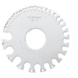GENERAL TOOLS 21, U.S. STANDARD SHEET METAL GAGE - (ROUND) 21