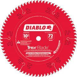 FREUD DIABLO D1072CDC, DIABLO TREX BLADE 10X5/8X72T - FOR COMPOSITE DECKING D1072CDC