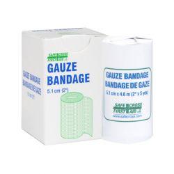 "SAFECROSS FIRST AID 02185, GAUZE BANDAGE 2"" X 5 YDS - 1/BX 02185"