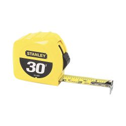 "STANLEY 30-464, TAPE RULE - YELLOW CLAD - 30' X 1"" - 30-464"