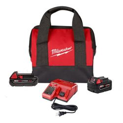 MILWAUKEE 48-59-1850SPC, M18 2.0 STARTER KIT + 5.0 BATT 48-59-1850SPC