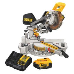 "DEWALT DCS361M1, SLIDING MITER SAW KIT 7-1/4"" - 20V MAX W/BATT AND CHARGER DCS361M1"