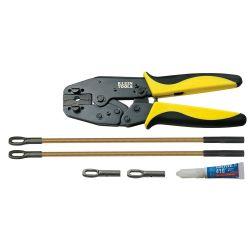 KLEIN TOOLS 56115, REPAIR KIT FOR FIBERGLASS FISH - TAPES - CRIMPER, EYELETS, 56115