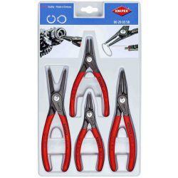 KNIPEX 0020-03SB, PLIER SET-RETAINING RING 4 PC - KNIPEX PRECISION CIRCLIP 0020-03SB