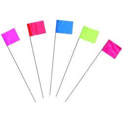C.H. HANSON 15067, 10 EA.- 15'' LIME FLO MARKING - FLAGS 15067