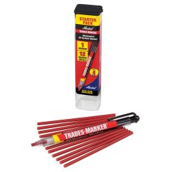 LACO MARKAL 96132, MARKER-TRADES RED - HOLDER WITH 12 REFILLS 96132