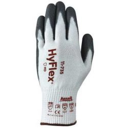 ANSELL 11735090, GLOVE-POLYURETHANE COATED ANSI - CUT LEVEL 4 10GA HPPE WHITE/GR - 11735090