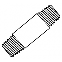 BMI 10650, PIPE NIPPLE-BLACK - 1 X 5 10650