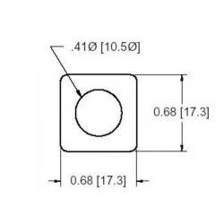 DOUGLAS STAMPING DSCH034-M200, SHIM -SINGLE HOLE 2.0MM THICK DSCH034-M200