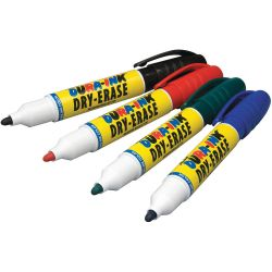 LACO MARKAL 96571, MARKER-WHITEBOARD BLACK - TIP DURA-INK DRY ERASE MARKER 96571