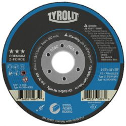 "DISC-GRINDING TYPE 27 ZA 24 R - 4-1/2"" X 1/4"" X 7/8"""