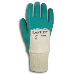 ANSELL EASYFLEX 47-200-9, GLOVE-NITRILE PALM COATED - EASY FLEX KNITWRIST MENS 9 - 47-200-9