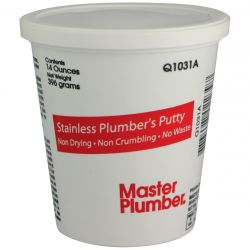 MASTER PLUMBER Q1031A, STAINLESS PLUMBER'S PUTTY - 14OZ - Q1031A