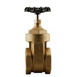"BOSHART INDUSTRIES 0818-30NL, GATE VALVE-THREADED 3"" - NON-RISING STEM 200PSI NO LEAD 0818-30NL"