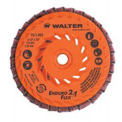 "WALTER SURFACE TECHNOLOGIES 15I451, ENDURO-FLEX 2IN1 TURBO - FINISHING DISC 4-1/2"" 5/8-11 15I451"