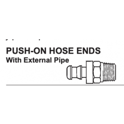 """PAULIN / DOMINION FITTINGS D362-4A, PUSH ON HOSE END X MNPT PIPE - 30182-4-2 1/4""""-1/8"""" D362-4A"""