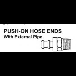 "PUSH ON HOSE END X MNPT PIPE - 30182-4-2 1/4""-1/8"""